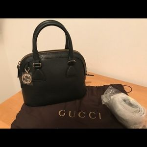 Gucci GG Leather Satchel w. Strap (NWT - Small)